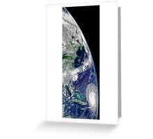 View of Hurricane Frances on a partial view of Earth. Greeting Card