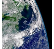 View of Hurricane Frances on a partial view of Earth. Sticker