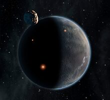 Artist's concept of an Earth-like planet rich in carbon and dry. by StocktrekImages