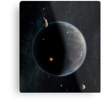 Artist's concept of an Earth-like planet rich in carbon and dry. Metal Print