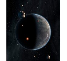 Artist's concept of an Earth-like planet rich in carbon and dry. Photographic Print