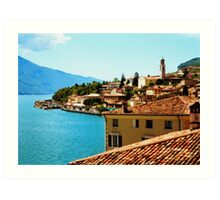 Limone Sul Garda Lake Garda Italy photo painting  Art Print