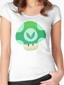 Vinesauce Mushroom Vector Women's Fitted Scoop T-Shirt