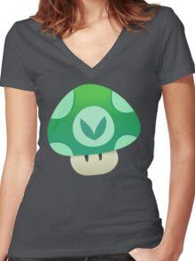 Vinesauce Mushroom Vector Women's Fitted V-Neck T-Shirt