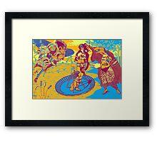 Birth Of Venus Reimagined (historic trip edition) Framed Print