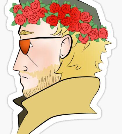 Kazuhira Miller Flower Crown Sticker Sticker