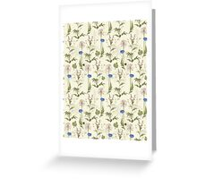 Seamless Background Wilding Poppy Greeting Card