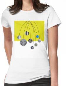 Cascading Orbits (Yellow) Womens Fitted T-Shirt