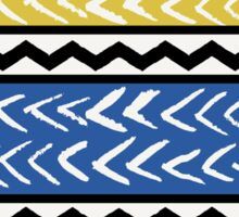 Blue, Yellow and Black Ethnic Pattern Sticker