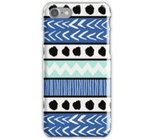 Blue, Mint and Black Ethnic Pattern iPhone Case/Skin