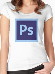 Adobe Photoshop Icon Women's Fitted Scoop T-Shirt