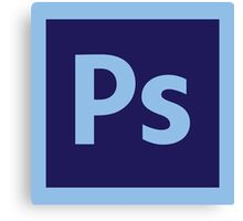 Adobe Photoshop Icon Canvas Print
