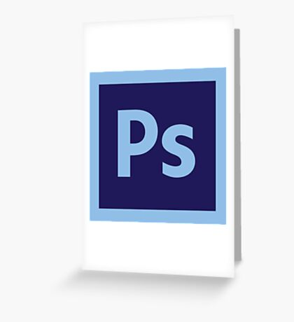 Adobe Photoshop Icon Greeting Card