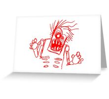 doodle zombie of the undead Greeting Card