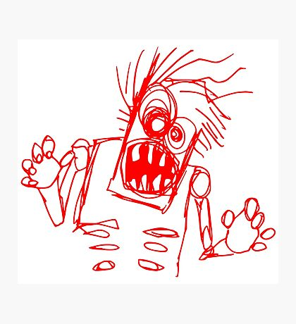 doodle zombie of the undead Photographic Print
