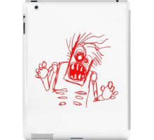 doodle zombie of the undead iPad Case/Skin