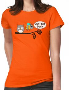 Owl bee back Womens Fitted T-Shirt