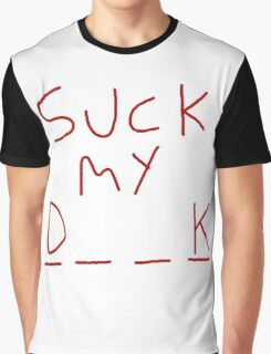 "Rick and Morty ""Suck my D__K"" front Graphic T-Shirt"