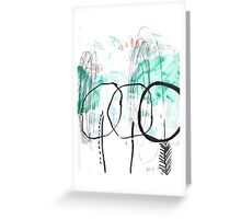 Forest Abstract Cool Cute Illustration Chill Nature Greeting Card