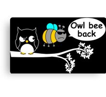 Owl bee back Canvas Print