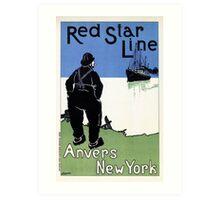 Red Star Line Antwerp New York Cassiers Art Print