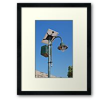 Solar powered light, Halki Framed Print
