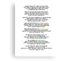 Sorting Hat Song Year 1 Canvas Print