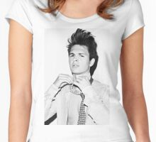 Ansel Elgort 2 Women's Fitted Scoop T-Shirt
