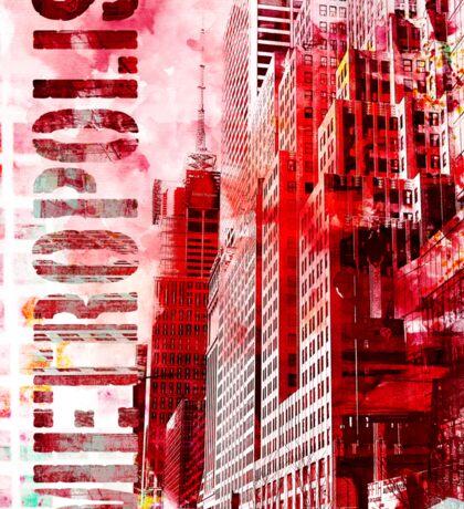 Metropolis red Sticker