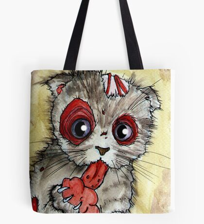 LOL zombie cat Tote Bag