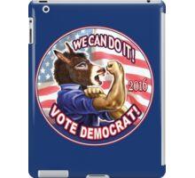 Vote Democrat Donkey 2016 iPad Case/Skin