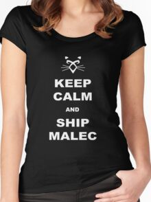 TMI - Malec : Keep calm and ship malec Women's Fitted Scoop T-Shirt