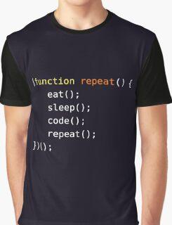 Eat, Sleep, Code, Repeat Graphic T-Shirt