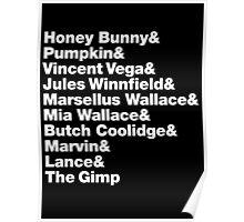 Pulp Fiction - Helvetica Poster