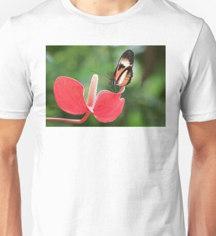 Butterfly and Flower Unisex T-Shirt