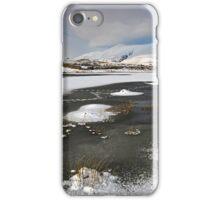 Skiddaw from a frozen Tewet Tarn iPhone Case/Skin
