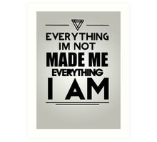 Kanye West Quotes Art Print