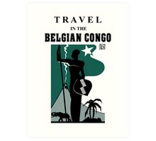 Travel in the Belgian Congo art deco Art Print