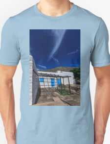 Typical Greek white stone house Unisex T-Shirt