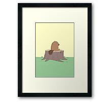 Beaver on the stump Framed Print