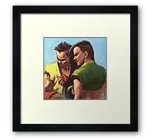 Street Fighter: Sean and Laura Framed Print