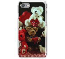 Valentine's Day Bear Group iPhone Case/Skin