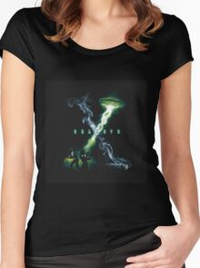 X FILES BELIEVE Women's Fitted Scoop T-Shirt