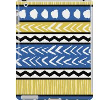 Blue, Yellow and Black Ethnic Pattern iPad Case/Skin