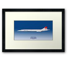 British Airways Concorde 1976 to 1984 Framed Print