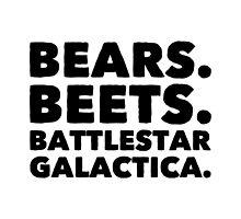 Bears Beets Battlestar Galactica by natcfc