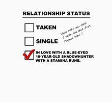 TMI - Malec : Magnus' Relationship Status Unisex T-Shirt