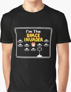 Moonage Space Invader Graphic T-Shirt