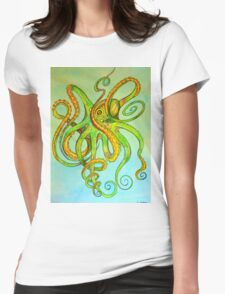 Tentacles Womens Fitted T-Shirt