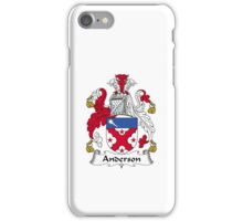 Anderson Family Crest Heraldic Shield iPhone Case/Skin
